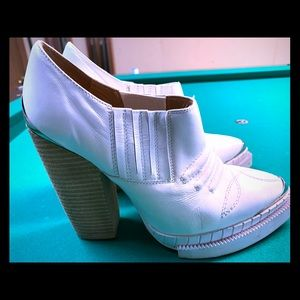 White cowgirl themed booties